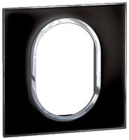 Arteor (British Standard) Plate 3 Module 1 Gang Round Mirror Black | LV0501.2695