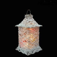 White Sisal String Lantern (snow effect)