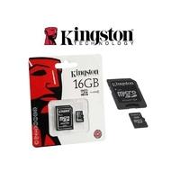 SDC04/16GB | Kingston Technology 16GB microSDHC, 4 MB/s, Black, Gold, 3.3V