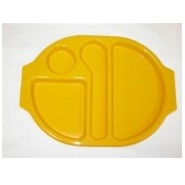 Meal Tray Yellow Polycarbonate 380mm x 280mm