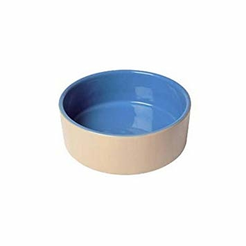 "Lazy Bones Ceramic Bowl 7.5"" - Beige & Blue x 6"