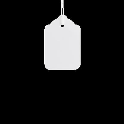 LYNX E21 25x15mm strung tag - White (Box 1k)