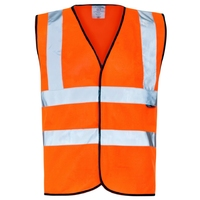 Supertouch Orange Hi Vis Vest - Velcro