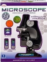 Microscope set with light