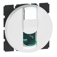 Arteor RJ45 Cat6 Utp 2 Module Round - White  | LV0501.2467