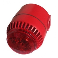 Combi Sounder / Beacon Deep Base Red IP65
