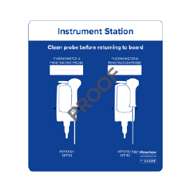 Instrument station for 2x instruments