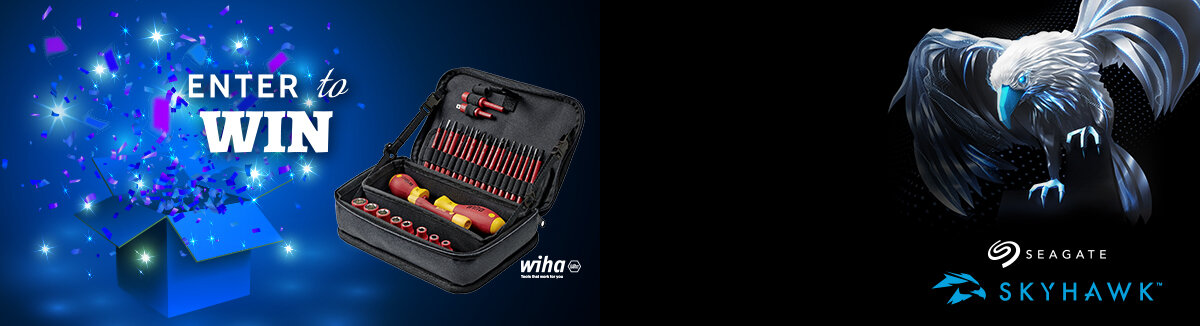 Order a 4TB+ Recorder online during Sep 2021 and be in with a chance to win a Wiha Toolset