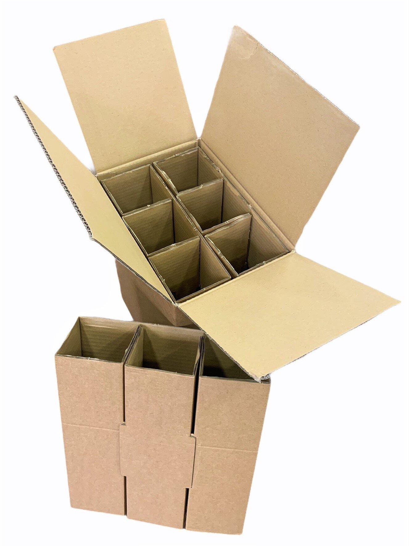 6 Bottle Postal Box. (10)