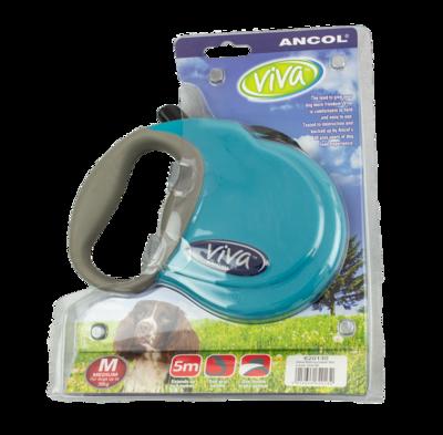 Ancol Viva Extending Lead - Medium Teal x 1