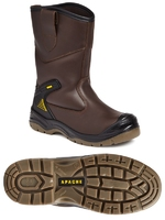 Apache Brown Waterproof Rigger Boot, S3,