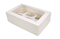 90080 CUPCAKE MUFFIN BOX WHITE (Holds 6)