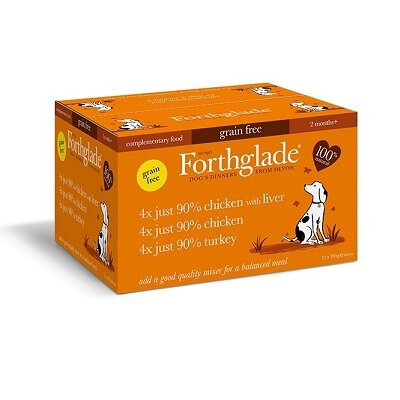 Forthglade Just Poultry Multicase Grain Free Dog Food 12 x 395g