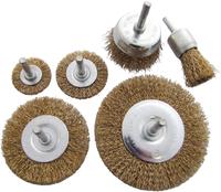 Amtech 6Pc Wire Wheel Brush Set