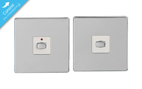 MiHome Smart Polished Chrome 1 Gang Light Switch (Two-way)