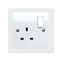 MK K2757WHI Logic Plus Socket Switched 1G DP 13A WHI