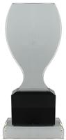 23cm Clear/BK Crystal  Award (Satin Box)