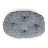 "Danish Design Oval Mattress - Bobble Fleece Grey 27"" x 1"