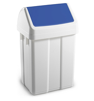 Max Swing Bin and Lid Blue 25Ltr