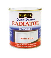 RUSTINS QUICK DRYING RADIATOR PAINT WHITE SATIN 500ML