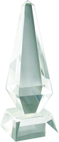23cm Crystal Pyramid Award (Satin Box)