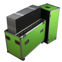 Prostage Flightcase for 8 of 1m x 1m panels & risers