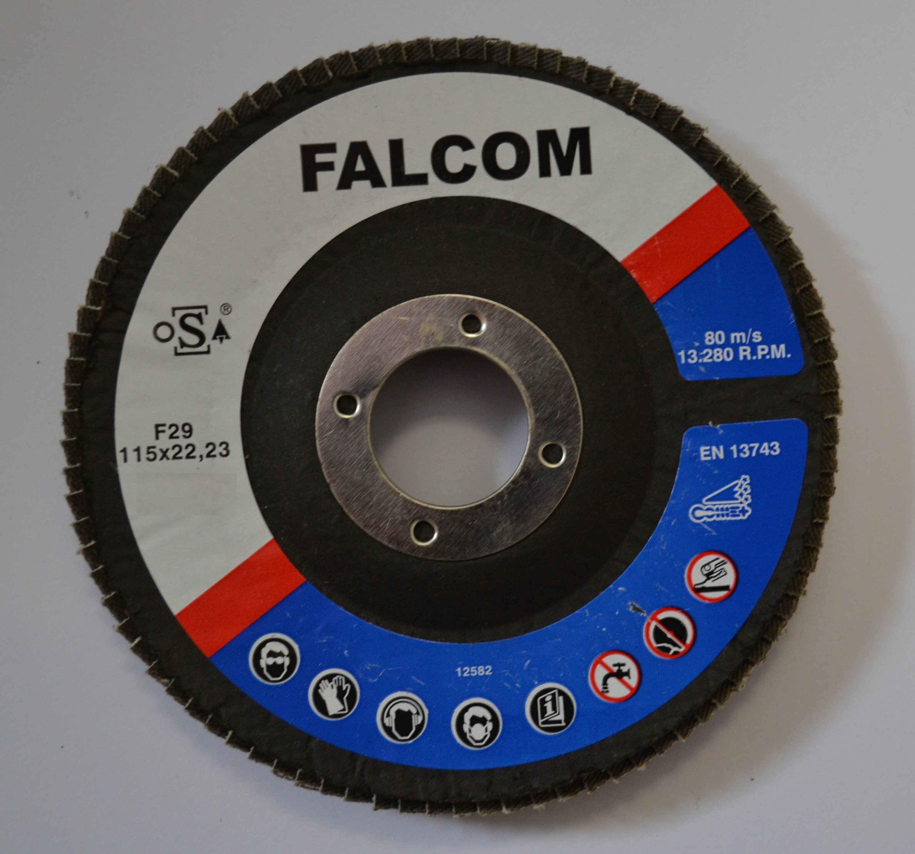 FALCOM 115x22mm GRIT 80 MOP DISC