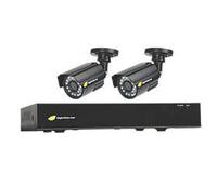 CCTV KIT 8 CHANNEL AHD DVR 2 BULLET