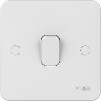 Schneider LWM 1 gang 1 way 10A retractive plate switch