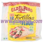 Old El Paso Flour Tortilla Reg 8s 326g x12