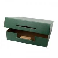 BOX GIFT 4BT 360X340X90MM GREEN