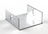 50 x 50mm Galvanised Blank End