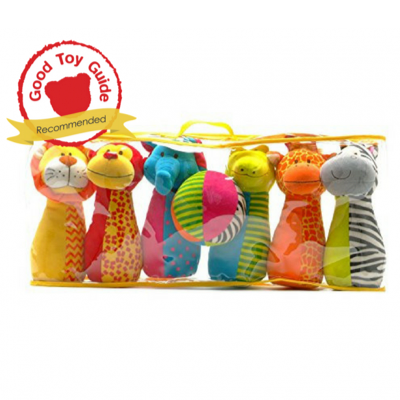 Jingly Jungle Soft Bowling Set in packaging