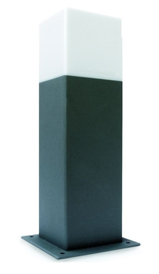 ONE Light Anthracite Pole 30cm E27 15W IP44 Opal Diffus