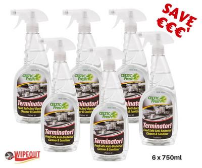 Terminator Antibacterial Cleaner 6x750ml spec