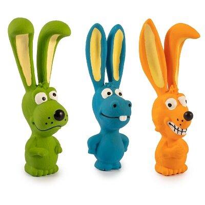 Ancol Latex Big Ear Buddie Dog Toys x 18