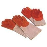 Bakers Gloves Leather Lined Wool 100mm Length