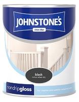 JOHNSTONES NON DRIP GLOSS BLACK 250 ML
