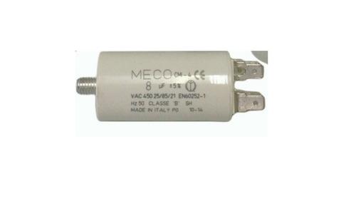 3uF Capacitor 450v 2 Tabs 25x55mm