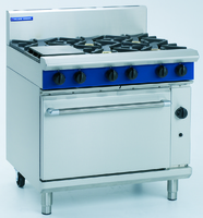 Blue Seal 6 Burner Gas Oven Range 900x812x915/1085mm