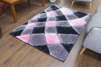 Supreme Rug - Grey/Pink 1