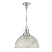 Hodges 1 Light, Glass Satin Nickel/ Clear | LV1802.0072
