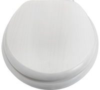 SOLID WOOD TOILET SEAT WHITE