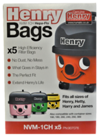 Genuine Numatic Henry Bags 5 Pack Nvm-1Ch Rebranded Box