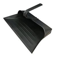 Leecroft Metal Hooded Dustpan Black