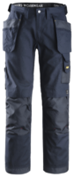 "SNICKERS 3214 CANVAS HOLSTER POCKET TROUSERS 096 NAVY (W35"" X L30"")"