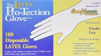 LATEX LARGE POWDER FREE CLEAR DISPOSABLE GLOVES SIZE 10