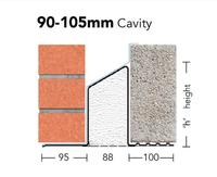 KEYSTONE HD/K-90 LINTEL 2400MM HEAVY DUTY LOAD (For cavity widths 90-105mm)