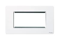 Schneider screwless euro mod plate white LV0701.0278