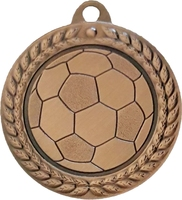 40mm Soccer Ball Medal (Bronze)